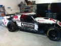 side view of my programs race car.