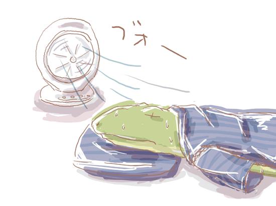 カエル・猛暑