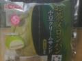 お茶メロンパン小豆クリームサンド