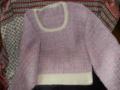 ピンク長編みのドルマン