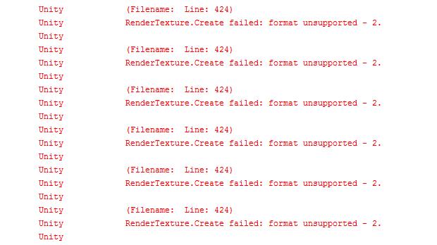 ログにRenderTexture.Create failed: format unsupported - 2.