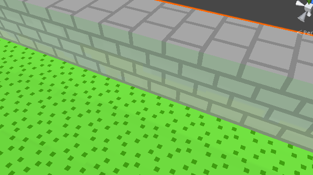 Bouncesが2のとき 壁の側面が緑っぽくなっている
