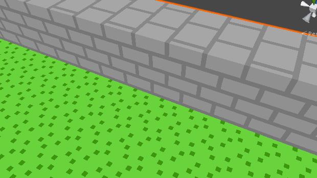 Bouncesが0のとき 床の色が反射されない