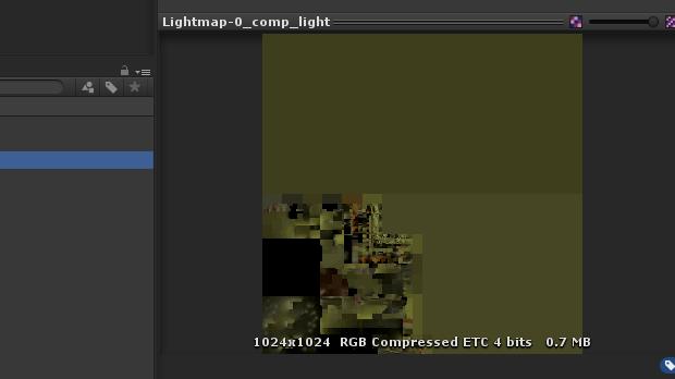 圧縮したライトマップ