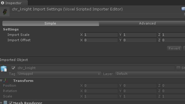 .voxのインポート設定