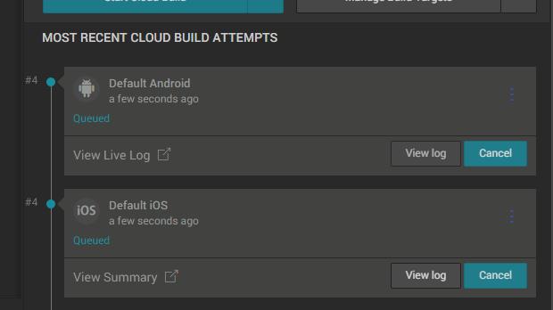 プロジェクトをアップロードすると、Cloud buildが検知して自動的にビルド
