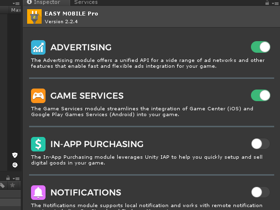 Easy Mobile Pro設定画面