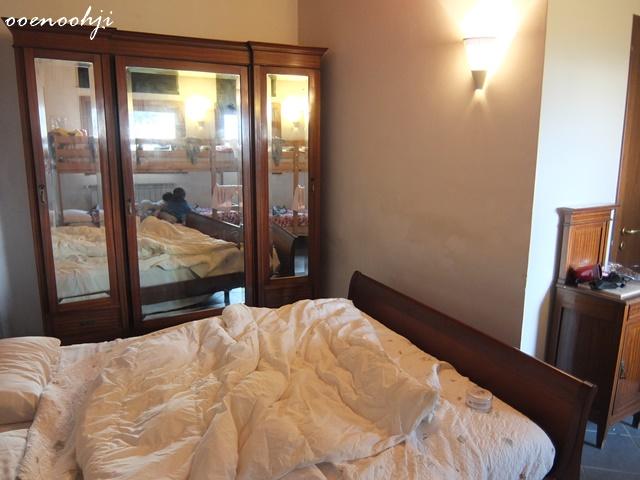 イタリア・ジェノバで利用したアグリツーリズモホテルモンテコンテッサ(Agriturismo Montecontessa)の部屋