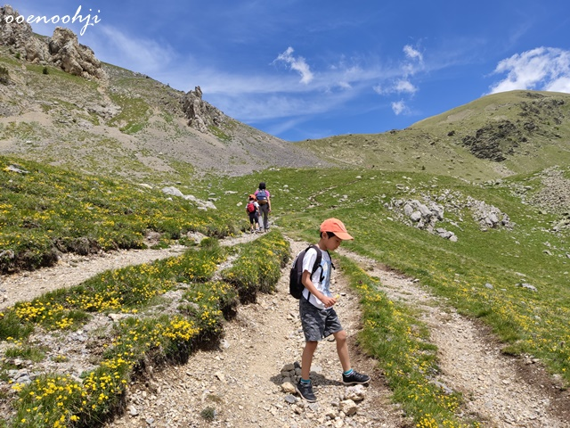 trekking at mountain in south france