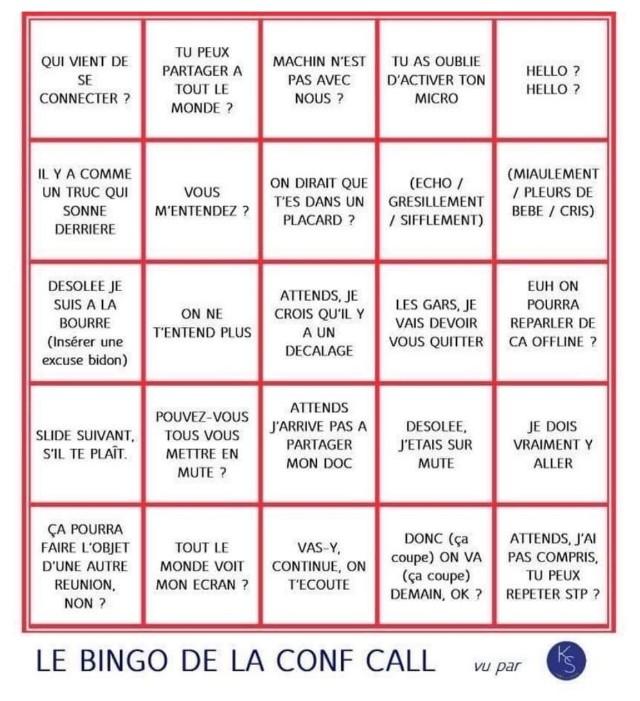 le bingo de la conf call : ビデオ会議で良く使われるフランス語表現