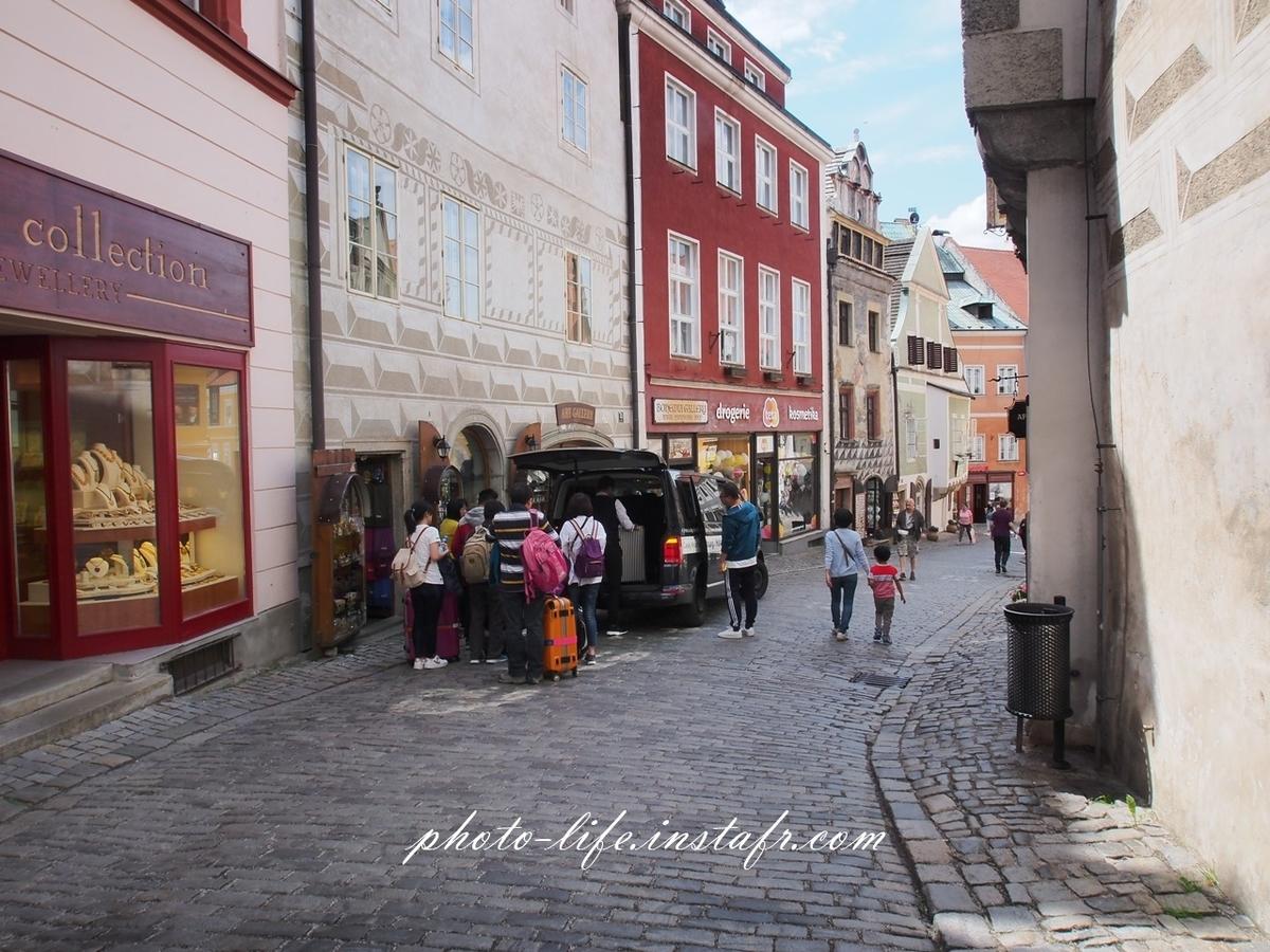 チェコ・チェスキークルムロフの街並み