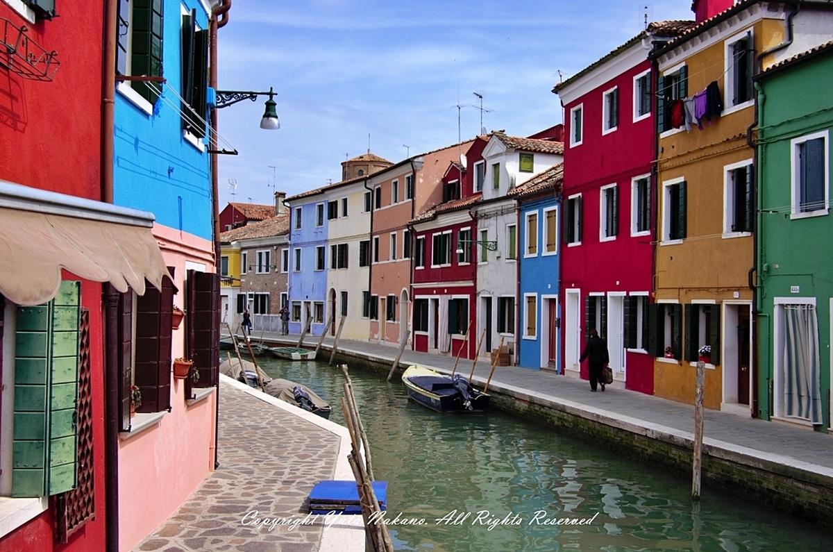 ヴェネツィア・ブラーノ島のカラフルな家