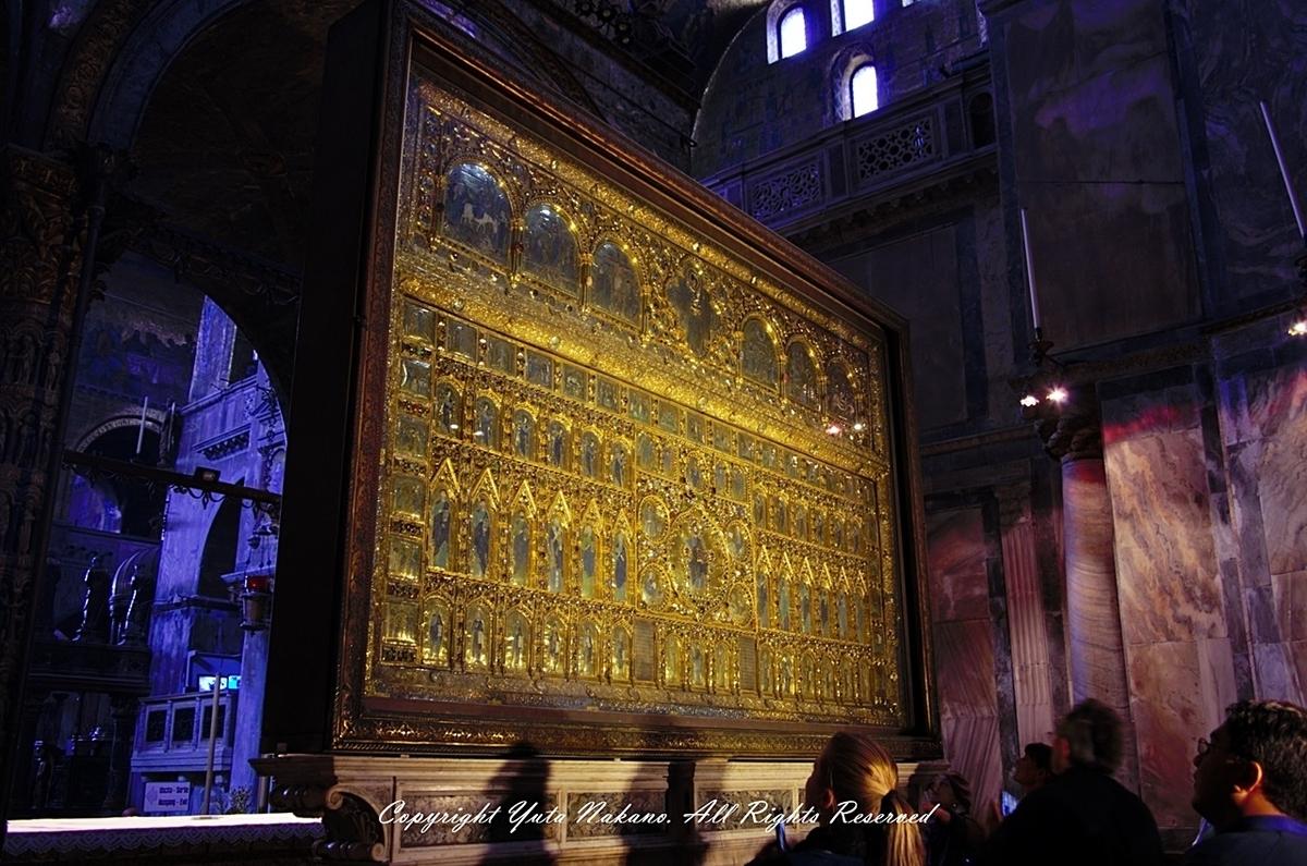 ヴェネツィア・サンマルコ寺院内の祭壇裏:パラ・ドーロ