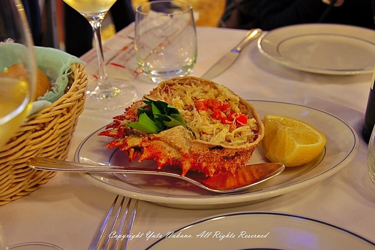 ヴェネツィアのレストランで食べた蟹料理