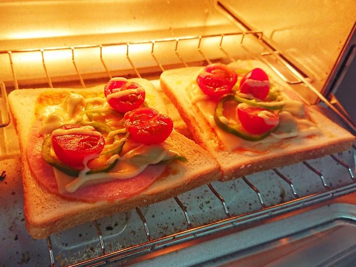 ピザトースト オーブントースター