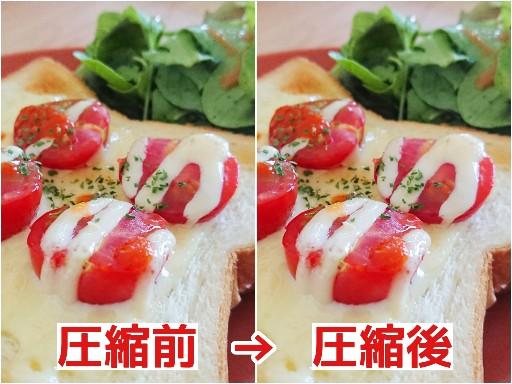 圧縮前と圧縮後の画像比較