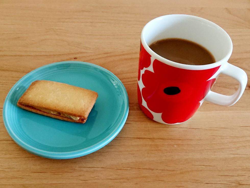 コーヒーとラムレーズンサンド