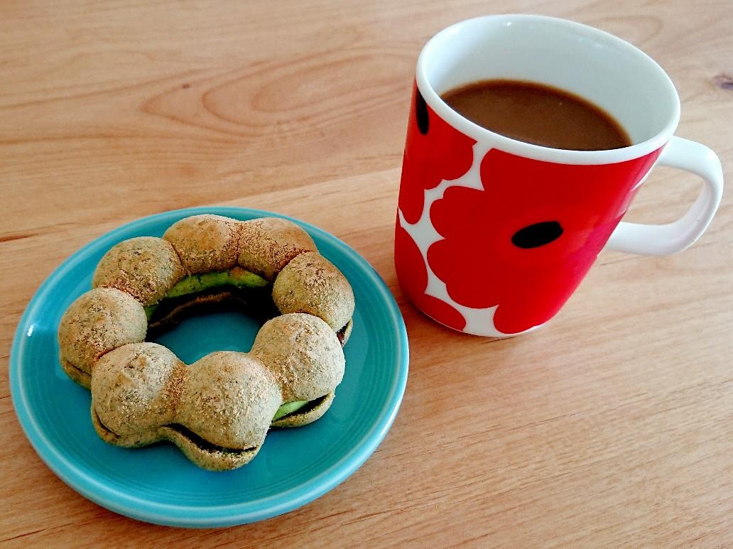 ポン・デ・宇治抹茶あずきとコーヒー