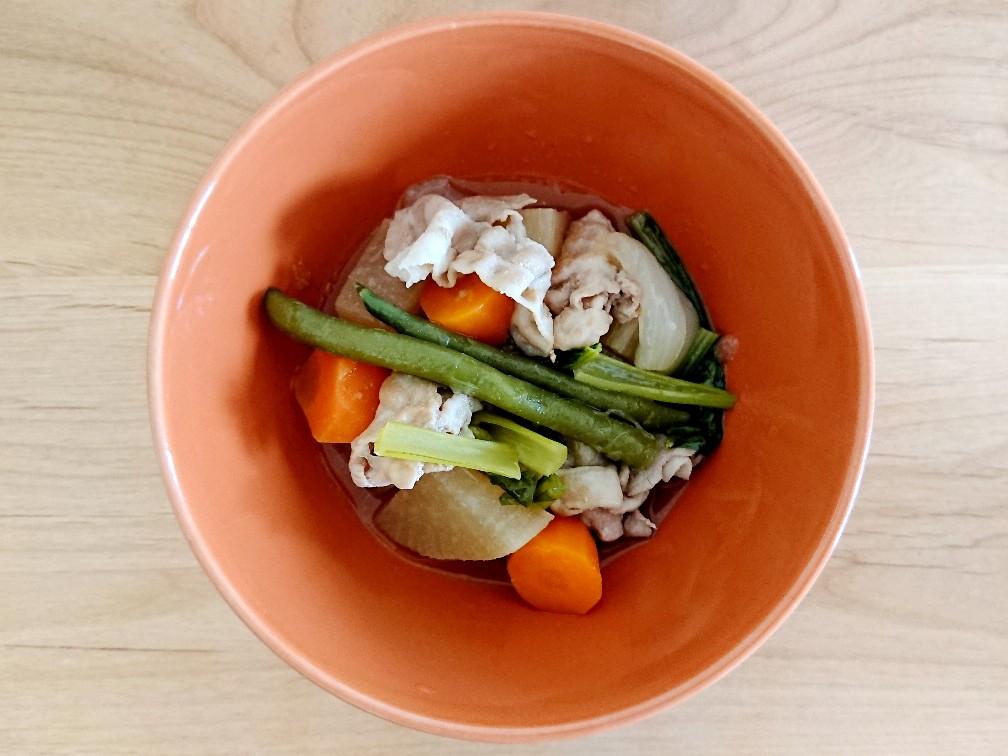 豚バラと野菜の煮物