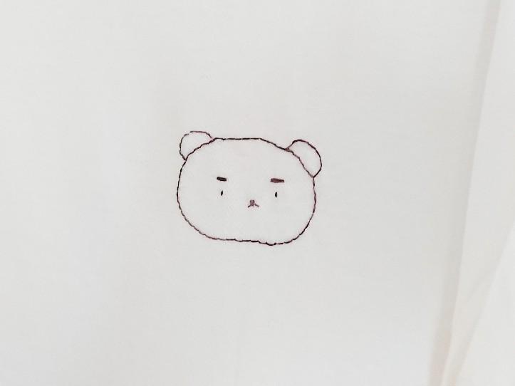 くまさんの刺繍