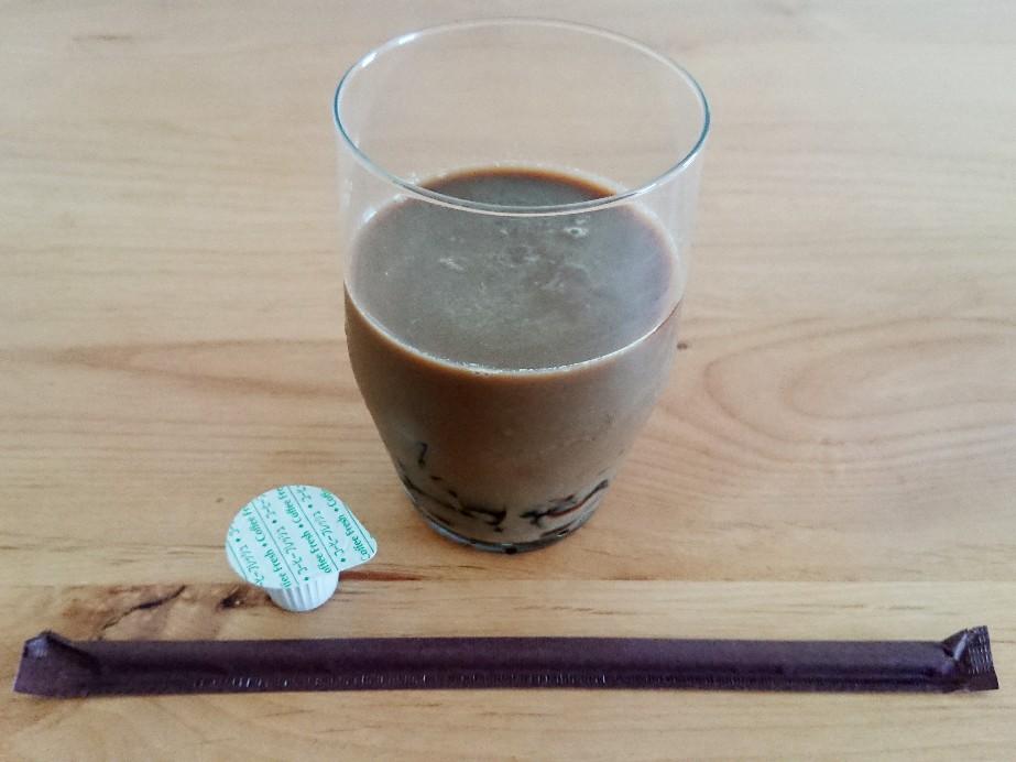 コーヒーゼリー入りコーヒー