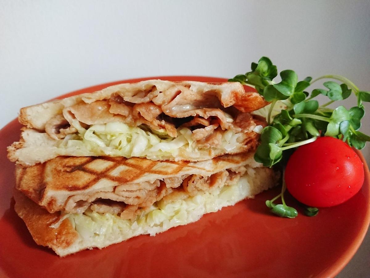 生姜焼きトースト