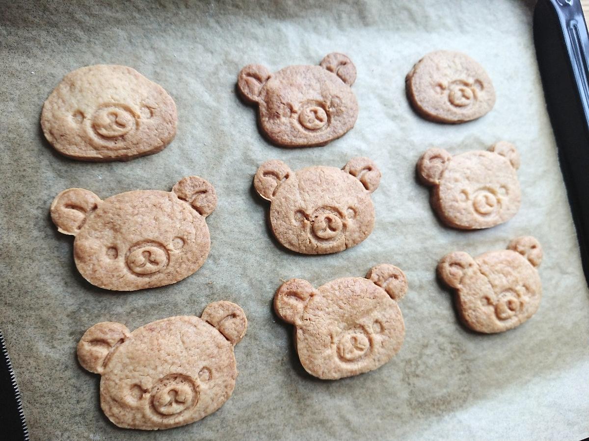 リラックマ型のクッキー