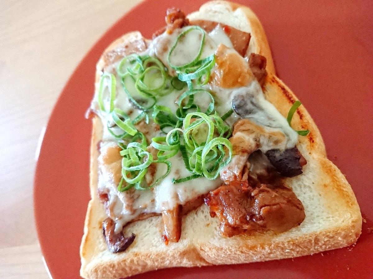 豚肉チーズトースト