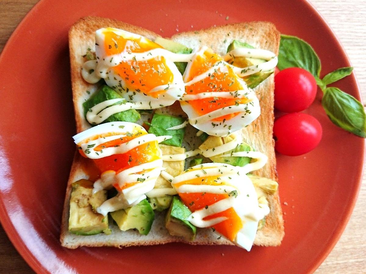 ゆで卵とアボカドのマヨトースト