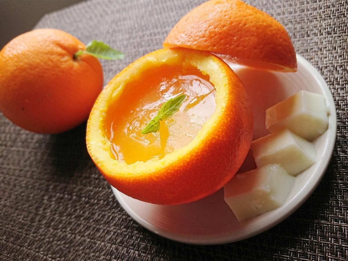 オレンジ丸ごとゼリー