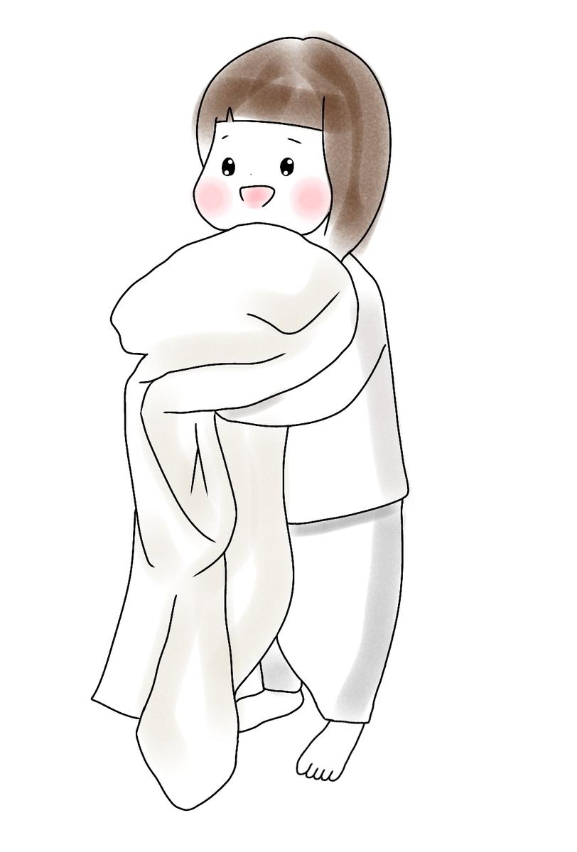 タオルを持った女の子