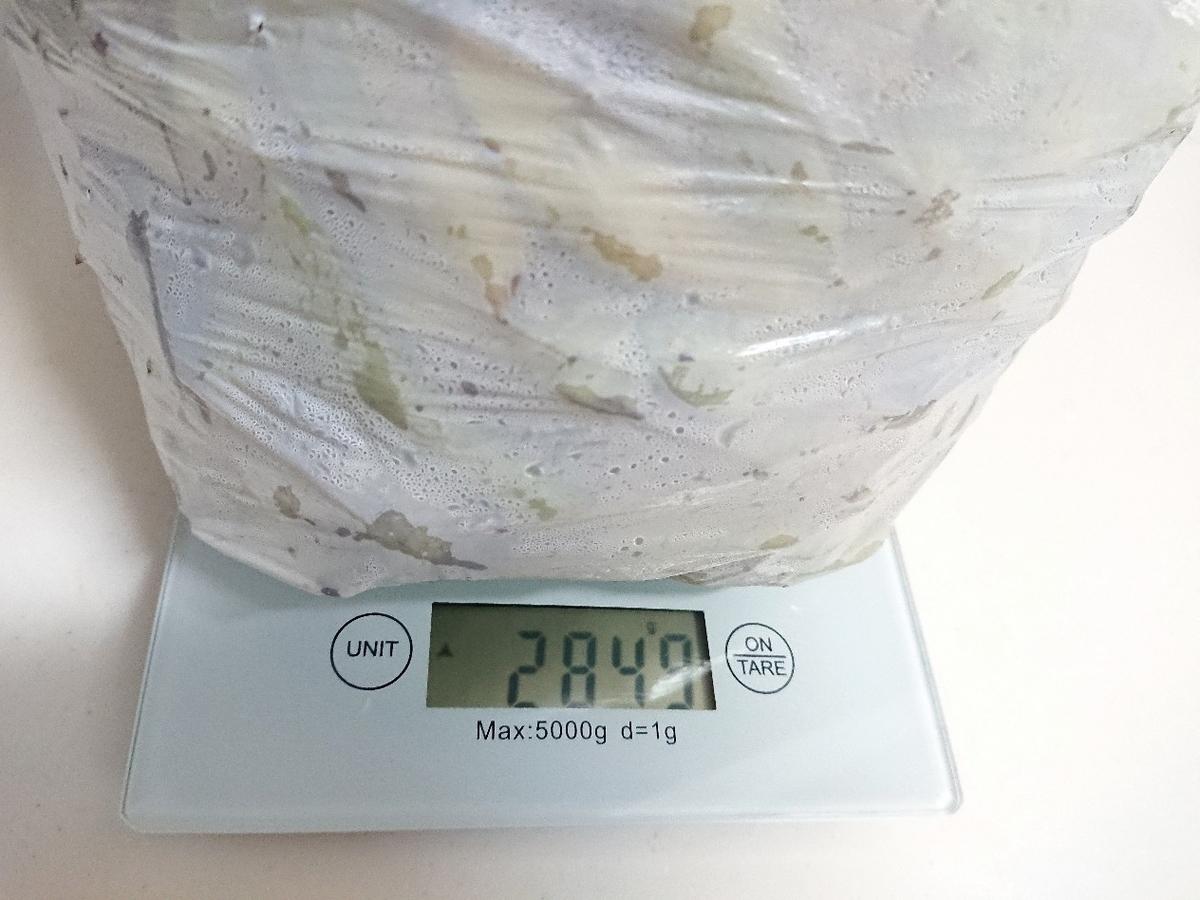 黒枝豆の重さ