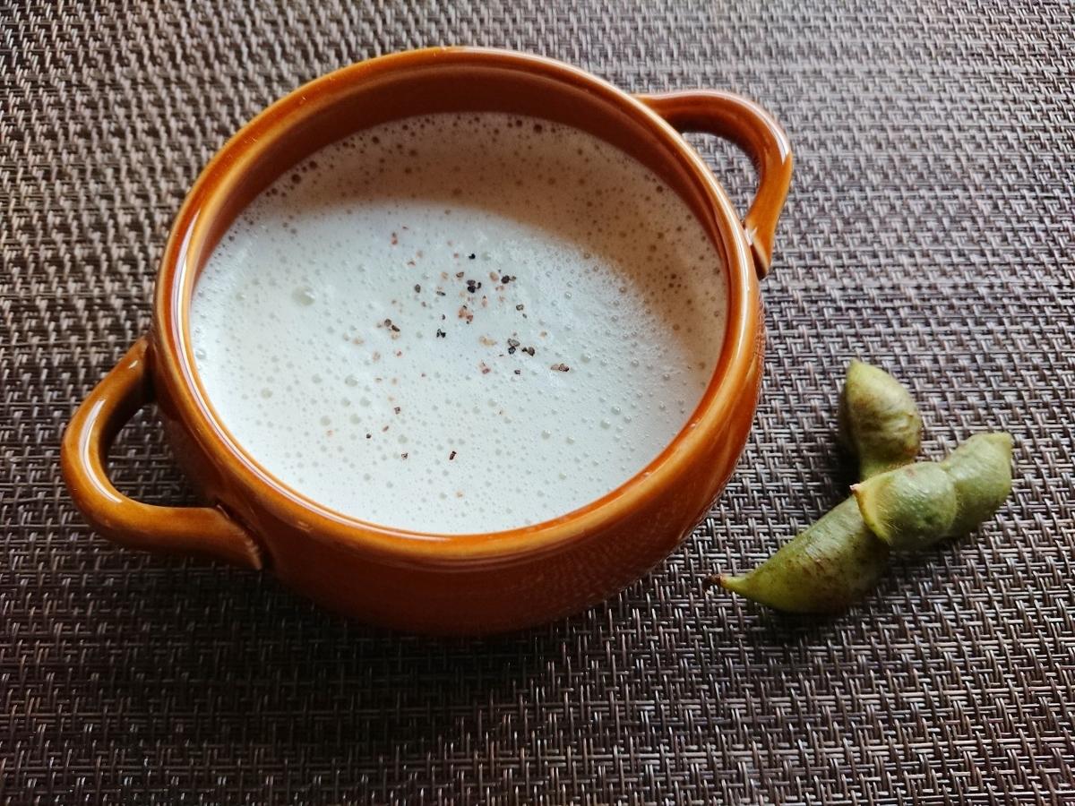 枝豆と枝豆スープ