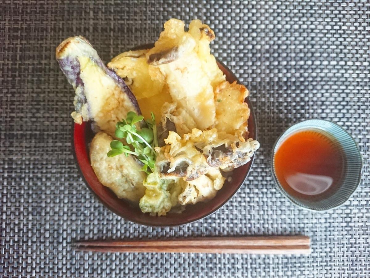 天丼 水 箸