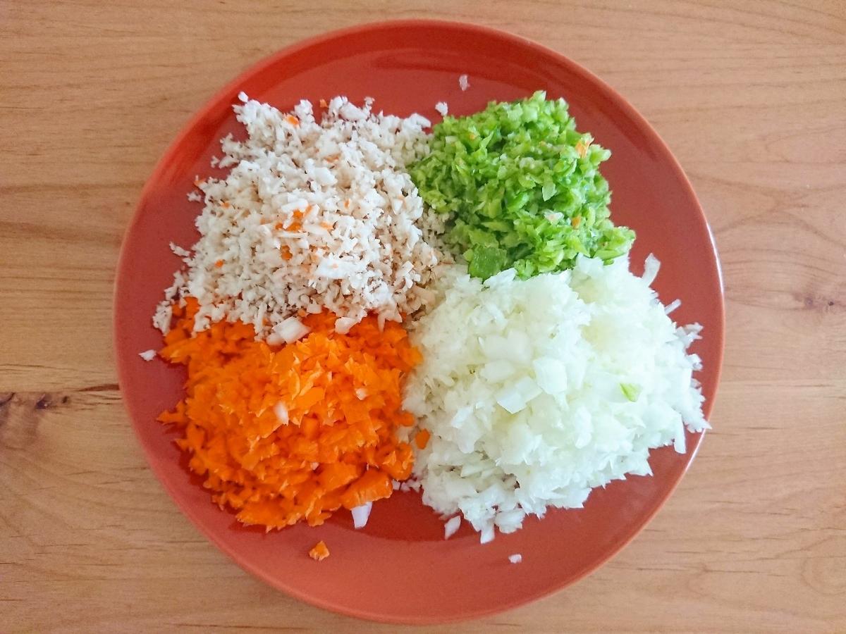 みじん切りした野菜