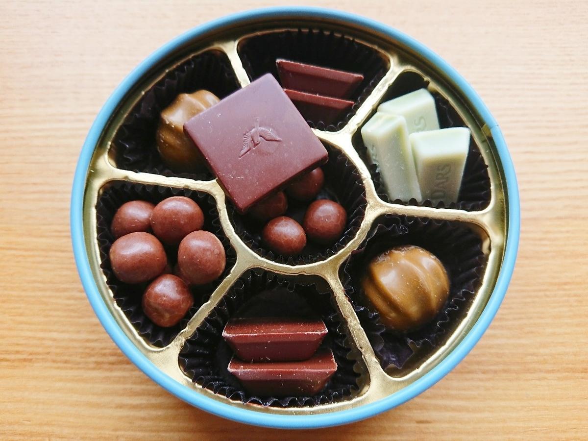 たくんさのチョコレートが詰まった缶