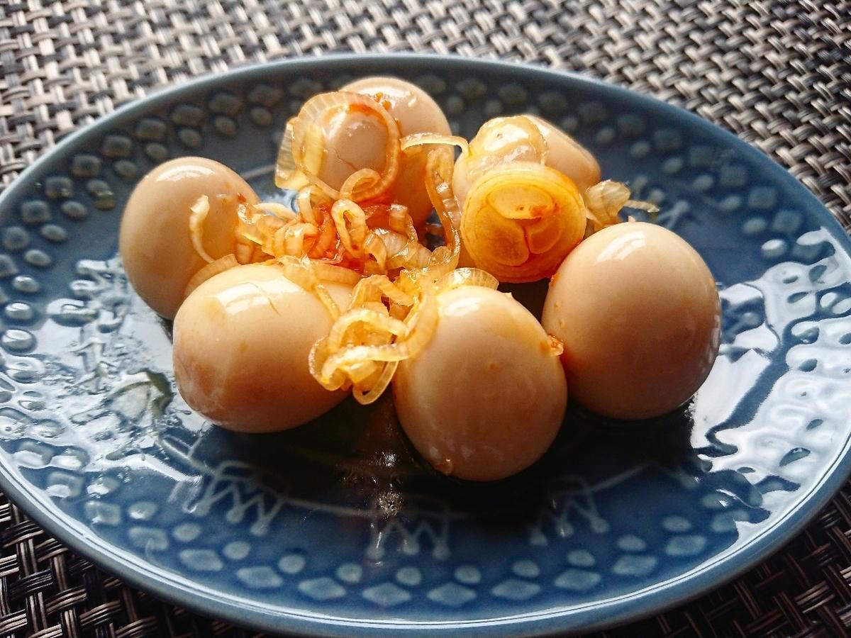 うずらの卵のラー油漬け