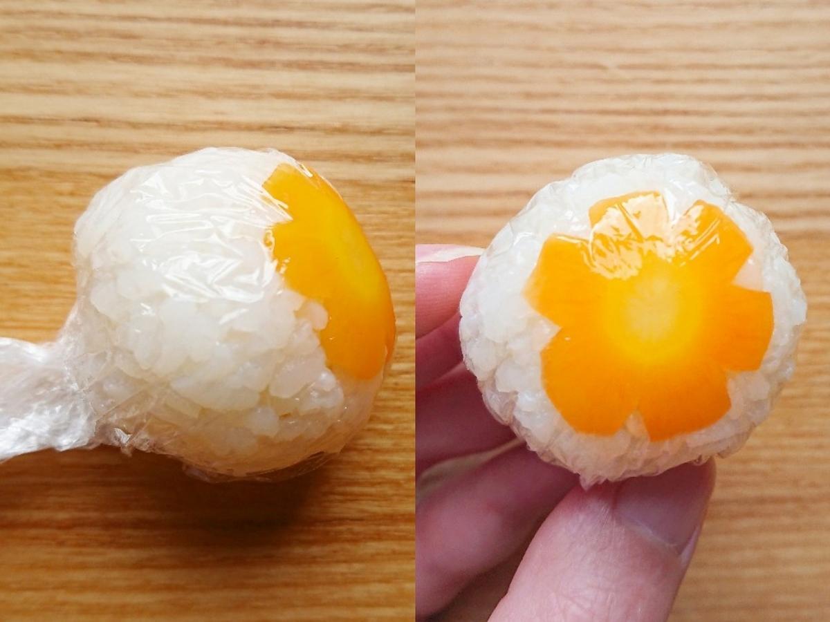 ラップを使用した手まり寿司の作り方