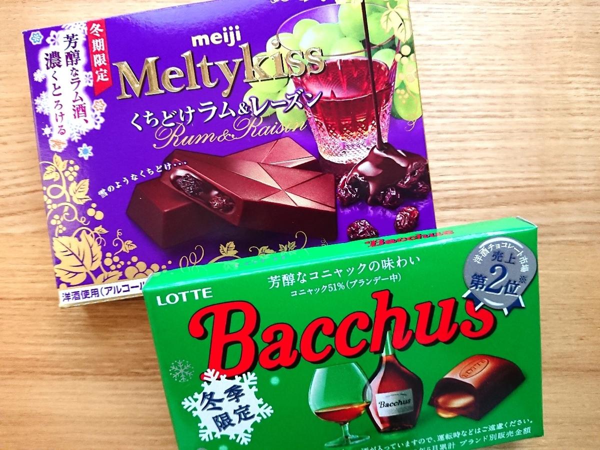 お酒が入ったチョコレート