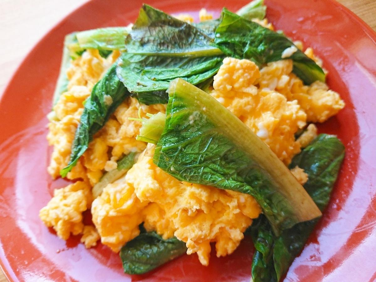 ロメインレタスと卵炒め