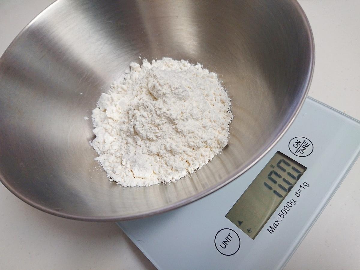 100gの天ぷら粉