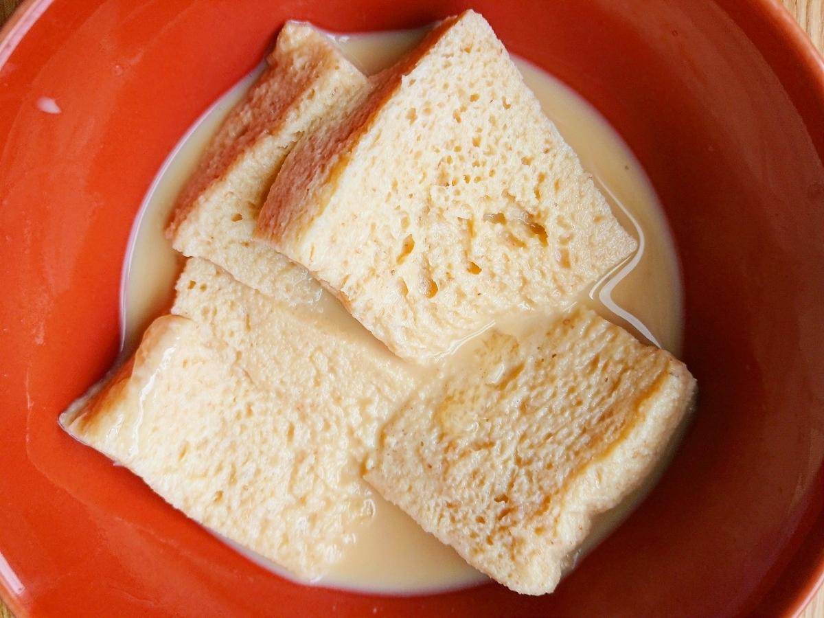 卵液に浸したパン