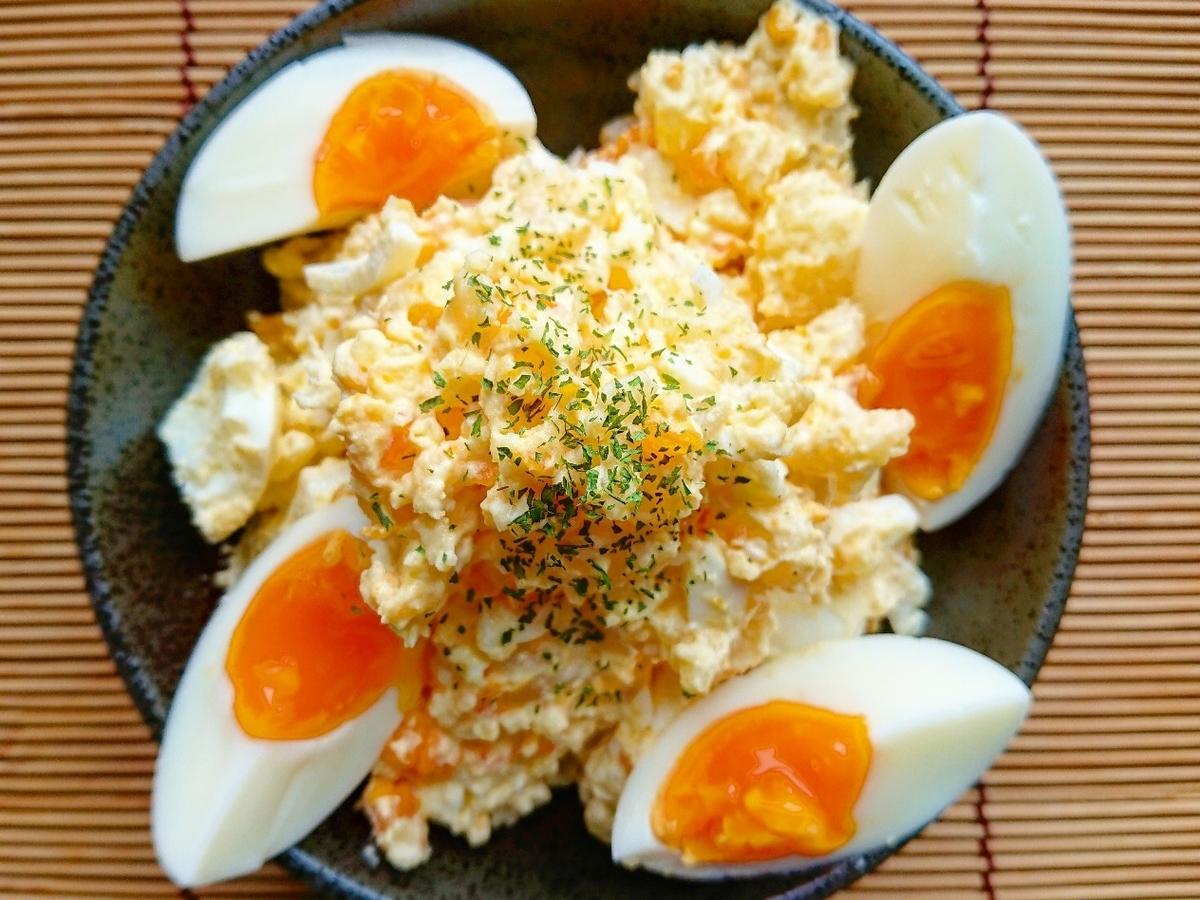 ゆで卵とポテトサラダ