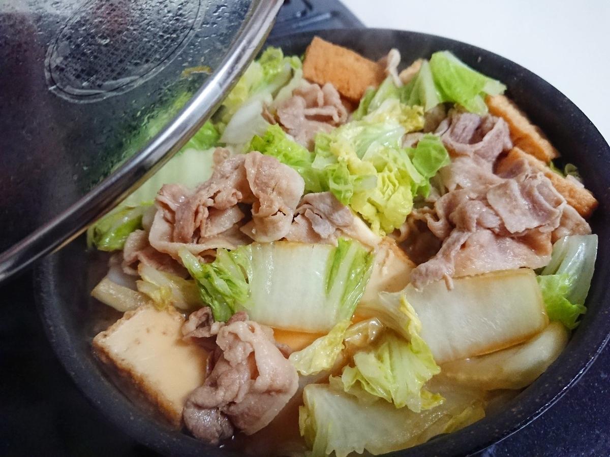 豚バラと白菜と絹厚揚げの煮物