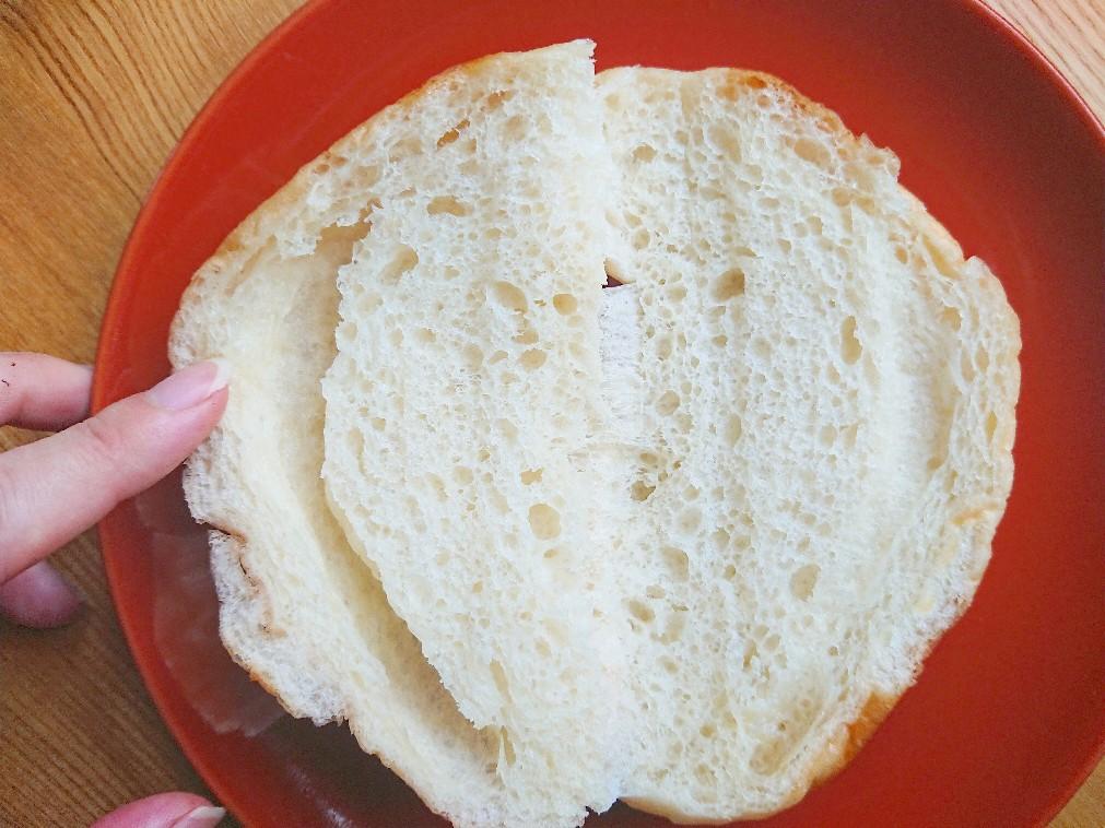 塩パンを開く