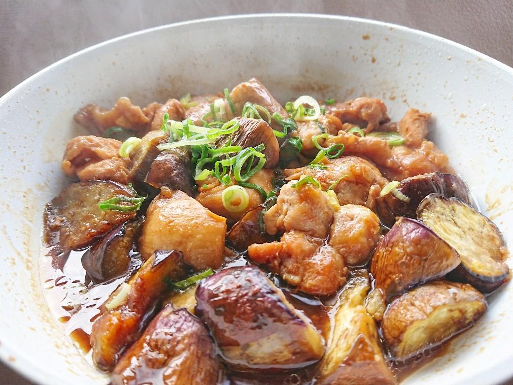鶏もも肉とナスの甘酢煮