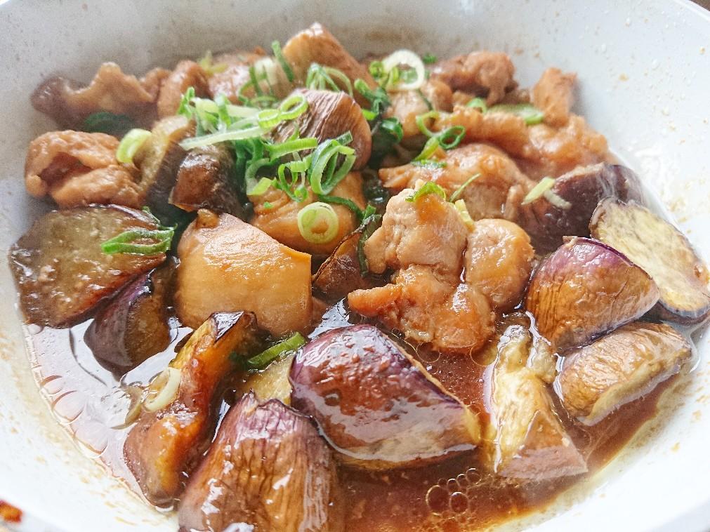 鶏モモ肉とナスの甘酢煮