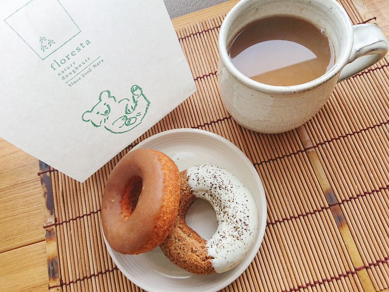 フロレスタのドーナツ コーヒー
