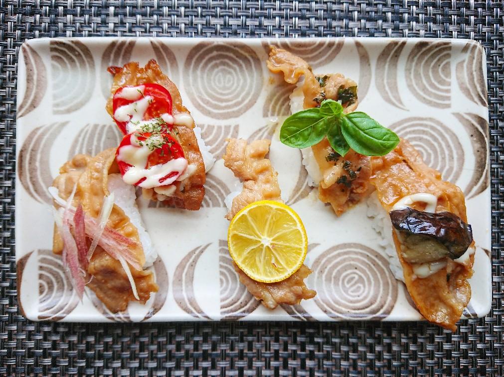 豚バラ寿司