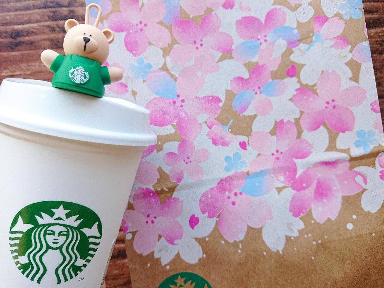 スタバ 桜 紙袋 ドリンク
